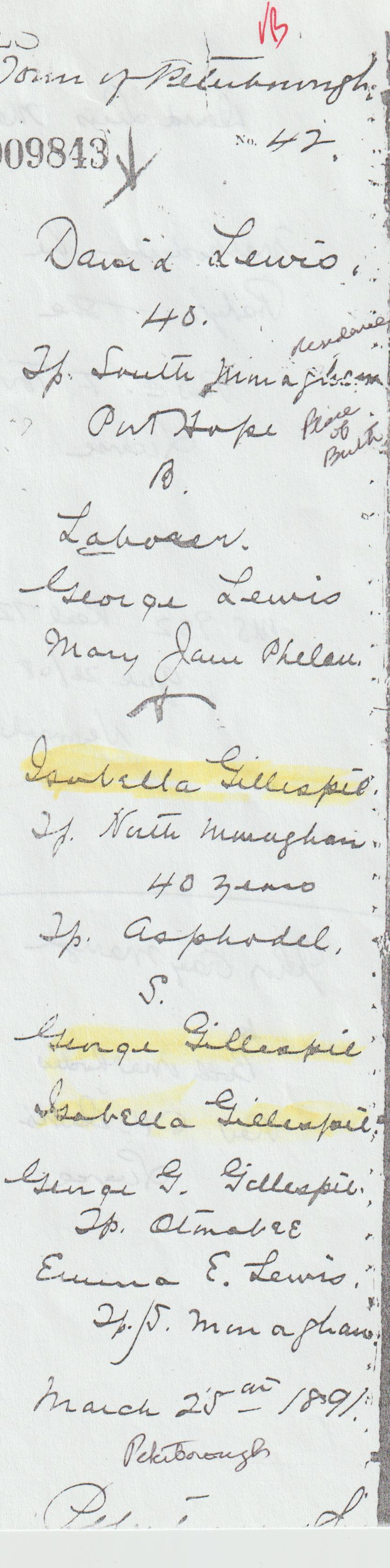 Isabella Gillespie David Lewis