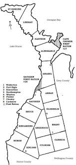 Map Bruce County
